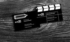 WEARE73 business cards concept | ROSS SOKOLOVSKI #blackwhite #business #video #logo #cards #production