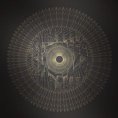 Abstract form #abstract #random #gold #dark #circular #circle #chaos #echo #davidrico #barcelona