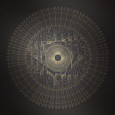 Abstract form #abstract #random #gold #dark #circular #circle #chaos #echo #davidrico #barcelona