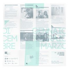 Teatro i 2010/2011 on the Behance Network #print #design #graphic #italy