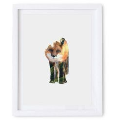 Red Fox Poster. Available as a high resolution print quality digital download