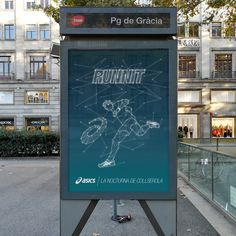 Key Visual for ASICS #asics #running #stars #sky #night #race #runner #illustration #constellation #poster #street