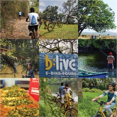 Cycle through the very traditional, green, grassroots feel of Goa. #letsblive #funoverfuel #southgoatrails #divar #fun #ev #ecotourism #eco #tours #ebikes #discovery #goavibes 🌴 #goatourism #goaindiatravel #travel #instatravel #instagoa #wanderlust #navratri #navratriwear #shadesofBLive #Friday #TGIF #weekendvibes