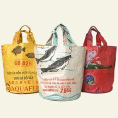 "Gecko Traders Recycled XL Koren \""Bucket\"" Bag"