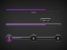 Purple progress bars ui elements Free Psd. See more inspiration related to Purple, Bar, Elements, Ui, Psd, Dark, Progress bar, Progress, Horizontal and Bars on Freepik.