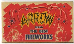 ARROW #packaging #fireworks #vintage