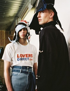 The 'Lovers Direct' T-shirt from Christopher Shannon's SS17 collection lookbook