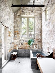 THE BROWN WORKSHOP #interior #window #bath #brick