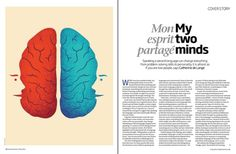 Editorial Illustrations on the Behance Network #page layout #brain #new scientist #editorial art