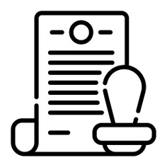 See more icon inspiration related to stamp, document, files and folders, rubber stamp, archives, certificate, documents, business and sign on Flaticon.