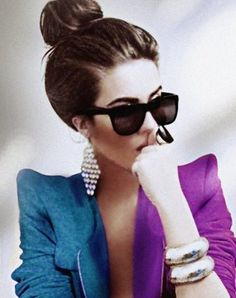 FFFFOUND! #fashion #blue #glasses #purple