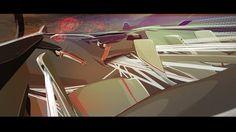 alex gebel #interior #bmw #70s #futuristic #alex #gebel #concept #graphics #car