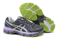 Womens Asics Gel Kayano 18 Black Purple Shoes #shoes