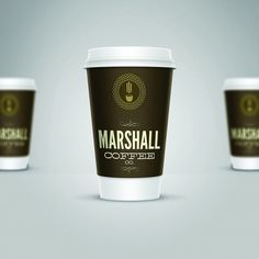 Marshall Coffee Co. - TheDieline.com - Package Design Blog #packaging #logo #cup #coffee