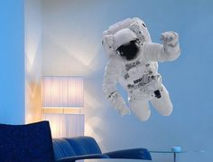 Astronaut Wall Sticker From The Binary Box #decal #sticker #gadget #home
