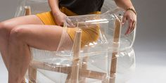 tehila guy anda inflatable armchair furniture bezalel academy of arts and design jerusalem