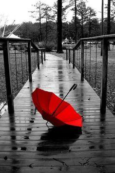 #photography#black#umbrella#Rain#Red