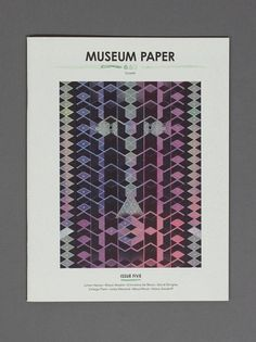 Museum Paper   Museum Studio – Art Direction & Graphic Design