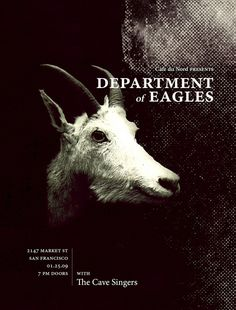 Department of Eagles Poster #dall #sheep #poster #typography