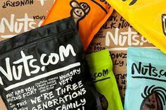 New Work: Nuts.com | New at Pentagram #nuts #branding #packaging #pentagram #typography