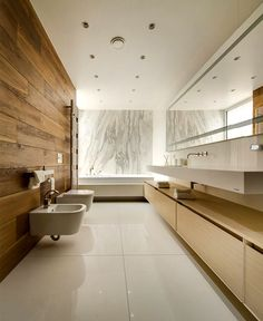 Moscow Apartment Created for a Young Family wall cladding white background #bathroom #bath #bathroom design