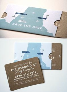 save the date #invitation wedding map minimal card