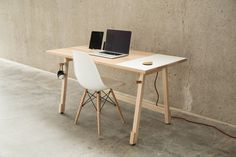 Desk01 by The Artifox #design #desk #minimal