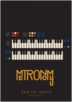 Metronomy - James Kirkups portfolio #print #design #graphic #james #illustration #metronomy #poster #music #kirkup