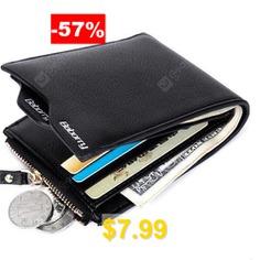 Men #Trendy #RFID #Blocking #PU #Bifold #Wallet #- #BLACK