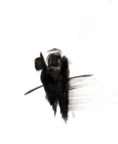 The Site of Nina Belle Luka Knudsen #ink #white #black #illustration #brush #man