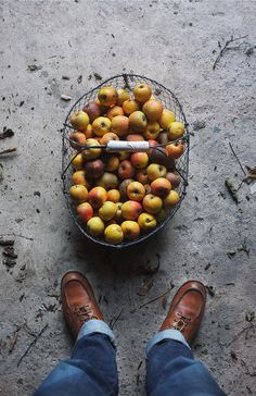 Likes | Tumblr #floor #shoes #apples #basket