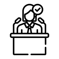 See more icon inspiration related to Politician, businesswoman, social, important, microphones, tie, administrator, user, speech, avatar, person and people on Flaticon.