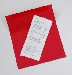 Direct Mail Christmas Card 2004 by Kevin Duvalle, via Behance #receipt