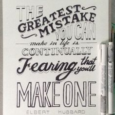 #typography inspirational quote #lettering