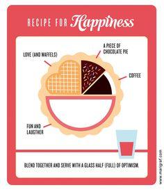 Recipe for happiness on Behance - Mari Graf #coffee #love #deisgn