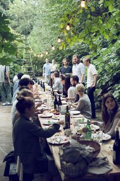 (9) Likes | Tumblr #people #food #forest #long table