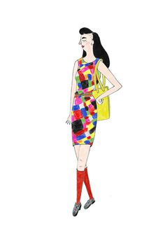 fashion illustration - street style #woman #girl #illustration #colors #fashion