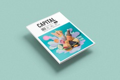 Magazine Papercraft cover - Mindsparkle Mag María Laura Benavente Sovieri is the designer of this beautiful project: an craft illustrated cover for Capital Magazine, a magazine that aims to provide a fresh look at New Zealand´s capital city. #logo #packaging #identity #branding #design #color #photography #graphic #design #gallery #blog #project #mindsparkle #mag #beautiful #portfolio #designer