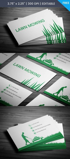 Free Mowing Business Card Template