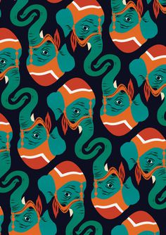 Matt Taylor #illustration #pattern #elephantss