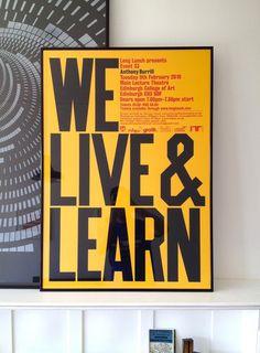 We live #design #graphic #quality #typography