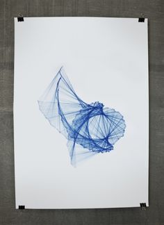 A/D Shift on the Behance Network #pattern #design #pen #blue #paper