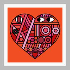 Image of Street Heart Giclxc3xa9e print on 310gsm Somerset Velvet Paper #onesidezero #2012 #remix #streetheart