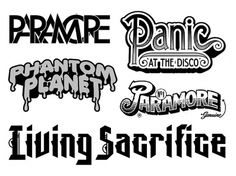 D A R A |typography|various bands #music #type #bands #typography