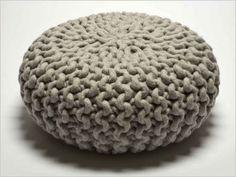 Le tricot à l'assaut de la déco #pouf