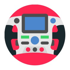 See more icon inspiration related to sports and competition, racing game, steering wheel, racing, gaming, transportation, electronics, automobile, steering, horn, wheel, race, driving, sports, car, vehicle and transport on Flaticon.