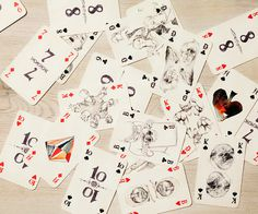 A Deck of Cards (different) | iGNANT.de #illustration #cards #mixed media #deck