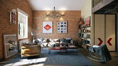 Attractive Loft apartment with an interior design made by Paul Vetrov - HomeWorldDesign (4)