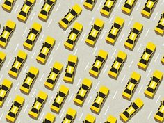Dribbble - Taxi! by jeff #yellow #design #graphic #digital #illustration #taxi #nyc