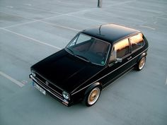 Where is the Cool? #clean #car #small #perfect #black car #golf #mk1 #vw